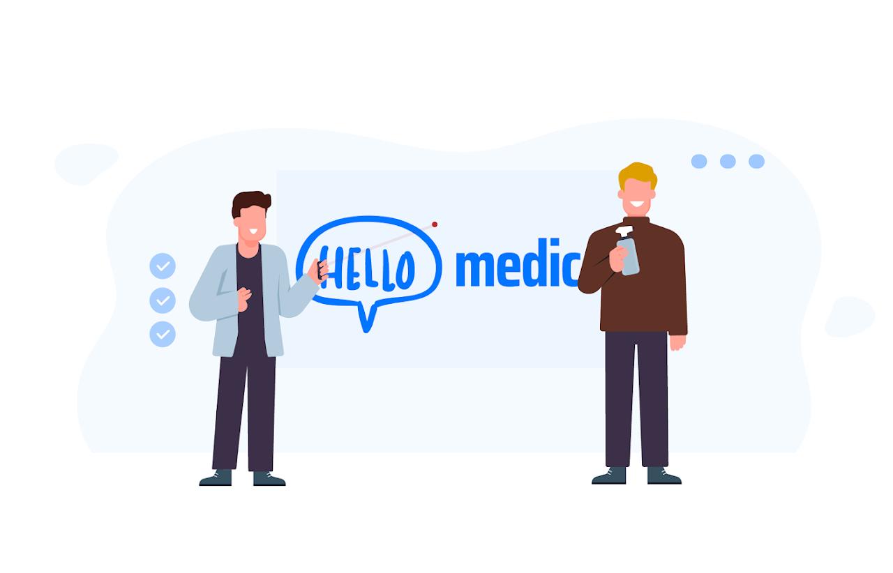 Zeg hallo tegen medische animaties